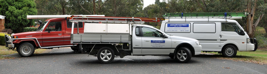 Electrician in eastern suburbs melbourne trucks and utes