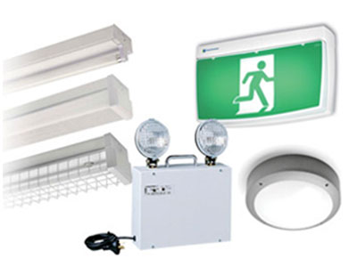 Exit and emergency lighting.
