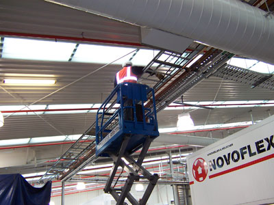 Installation of industrial cable ladder by Absolute Electrics.