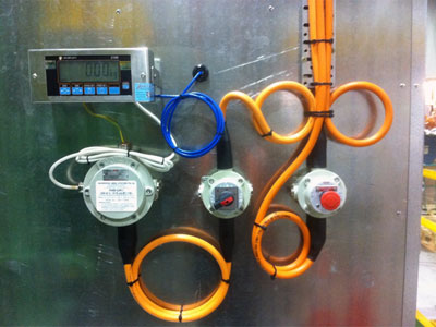 Flameproof wiring for industrial hazardous areas.